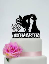 motorcycle wedding cake toppers motorcycle wedding cake toppermr and mrs cake toppergroom on