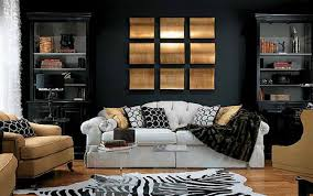 furniture modern room design with abstract zebra print fabric
