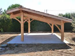 auvent en bois pour terrasse abris de jardin bois carport voitures bois garage bois