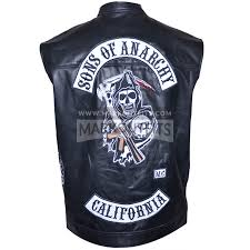 motorcycle jacket vest jackson jax teller sons of anarchy biker leather vest jacket