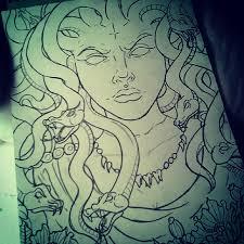 medusa art drawing tattoo on instagram medusa tattoo ideas