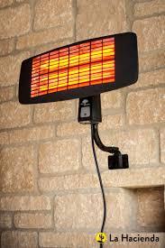 la hacienda electric patio heater la hacienda wmq2000 quartz wall mounted electric patio heater