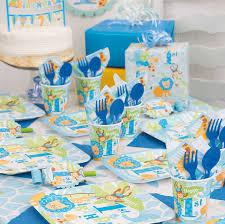 amazon com square blue safari 1st birthday dinner plates 8ct
