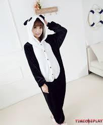 panda onesies pajamas unisex flannel kigurumi onesies winter