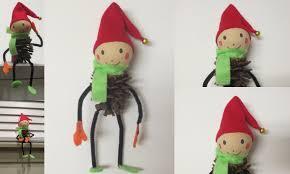 diy cute gifts christmas tree decor pinecone elf pine cone