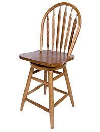 dark oak bar stools amazon com solid oak windsor back swivel bar stool 24 inches high