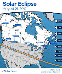 Ottawa Canada Map by What Canadians Can Expect During The Solar Eclipse On August 21