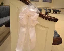 Pew Decorations For Weddings Wedding Pew Bows