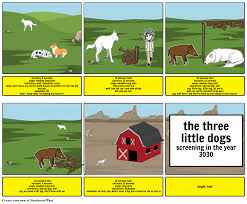 the three little dogs storyboard by tom