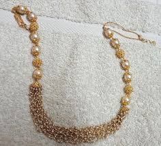 small gold necklace sets images Small basara pearls and south pearls set pearls indian jewelry jpg