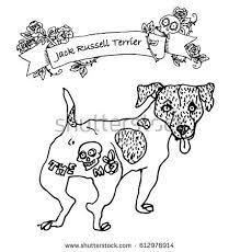 vector conceptual illustration black white tattooed stock vector
