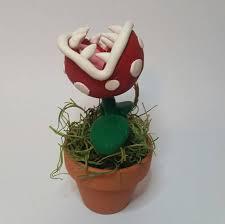 Super Mario Home Decor Piranha Plant From Super Mario Bros Mini Sculpture Video Game