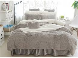 full size bright rose red fluffy plush 4 piece bedding sets duvet