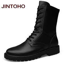 aliexpress com buy jintoho large size genuine leather boots men