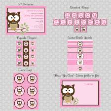 owl baby shower customer party swish printables