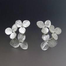 flower stud earrings flower stud earrings hydrangea flower cluster earrings