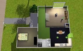 mod the sims colourful split level starter home