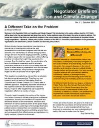 Seeking Text Negotiator Negotiator Briefs On Cognition And Climate Change A Different