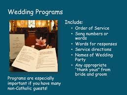 Order Of Wedding Program Catholic Weddings Ppt Video Online Download