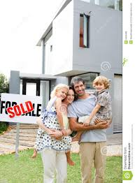 family buying a house royalty free stock photos image 9456408