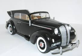 opel admiral 1938 admiral cabriolet wwii german staff car icm holding plastic