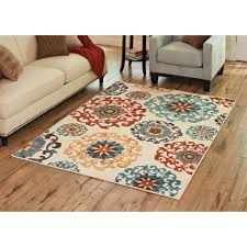 Orange Area Rug With White Swirls Better Homes And Gardens Suzani Area Rug Or Runner Walmart Com