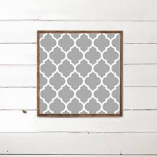 quatrefoil wood sign pattern home decor wood signs wooden