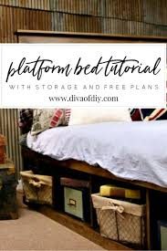 platform bed with storage diy do it your self