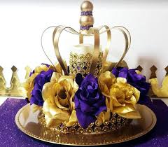 crown centerpieces new purple and gold baby shower crown centerpiece royal