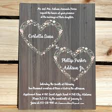 Rustic Invitations 10 Affordable Rustic Valentine U0027s Day Wedding Invitations