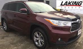 toyota highlander 2015 used cars for sale in sudbury laking toyota