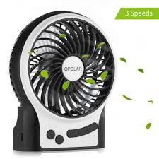 Quiet Desk Fan Opolar F201 Portable Rechargeable Fan Mini Usb Fan With 1800mah
