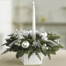 christmas table decorations centerpieces 2010 christmas decorating trends silver snow