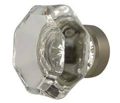 Brushed Nickel Knobs For Cabinets 1 3 8 Inch Crystal Octagon Old Town Cabinet Knob Brushed Nickel Base