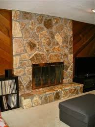 cedar plank wall and light fireplace 70 s house floor color