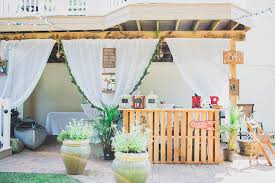 our diy boho backyard engagement party