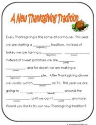 thanksgiving mad libs language mad libs for