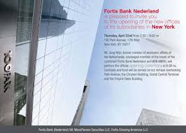 Opening Ceremony Invitation Card Design Fortis Bank Nederland Holds Opening Ceremony Of The New Offices Of