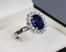 saphire rings 2 59 carats blue sapphire solitaire with halo diamonds