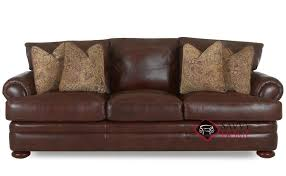 Leather Blend Sofa Montezuma Leather Sofa By Klaussner Is Fully Customizable By You