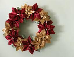 lillyella crafting a ribbon poinsettia wreath