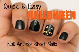 nail art easy halloween nail art for designs youtube marvelous