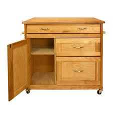 kitchen island cart with deep drawers u0026 drop leaf