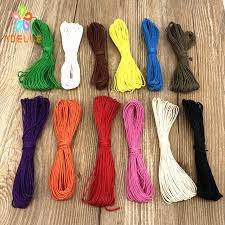 colored necklace cords images 2 rolls lot 0 5mm colored original polishing waxed hemp cord diy jpg