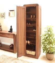 Hallway Shoe Storage Cabinet Strathmore Solid Walnut Furniture Shoe Cupboard Cabinet