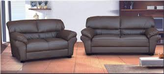 candy 3 2 seater faux leather sofa in chocolate brown or black