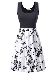 kira women u0027s vintage scoop neck midi dress sleeveless a line