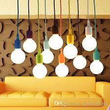 Light Bulb Pendant Fixture by Discount Art Silicone Home Ceiling Pendant Lamp Light Bulb Holder