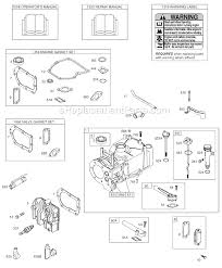 briggs and stratton 9d900 series parts list and diagram