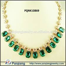 emerald stone necklace jewelry images Charm jewelry emerald stone designs rhinestone necklace buy jpg